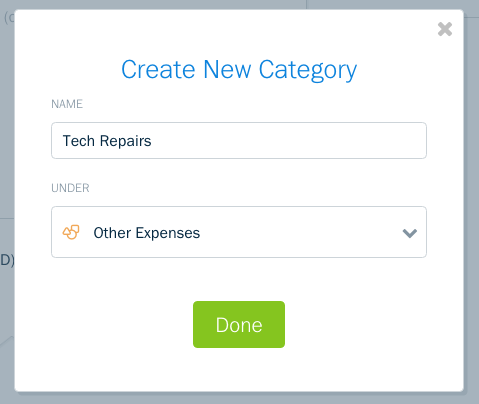 what are expense categories freshbooks