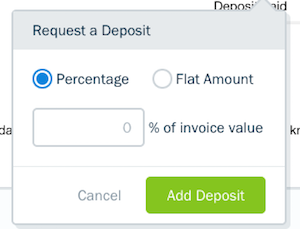 Percentage or flat total options.