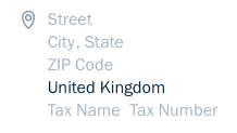 Tax Name and Tax Number fields.