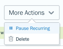 Pause recurring button on template.