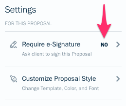Require e-signature option.