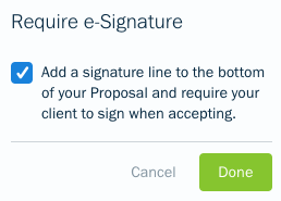 Check off to enable e-signature box.