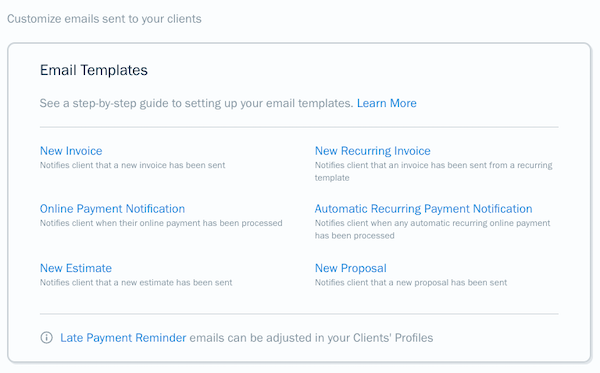 How Do I Manage My Emails Templates Freshbooks