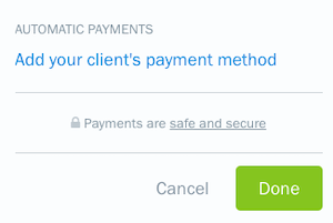 Add client payment method link on recurring template settings.