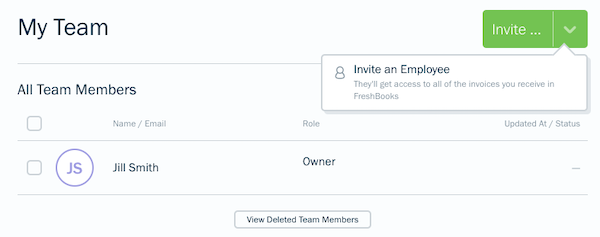 My Team section with invite button.